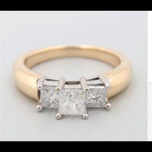 Jewelry - 3 stone princess cut diamond ring.